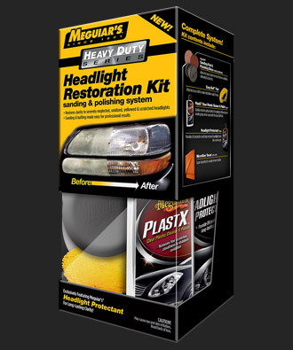 Heavy Duty Headlight Restoration Kit Valaisinlasien kunnostus sarja